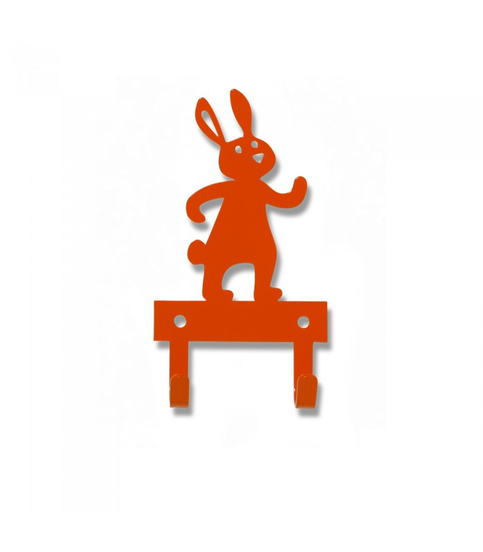 Orange Rabbit Wall Hanger