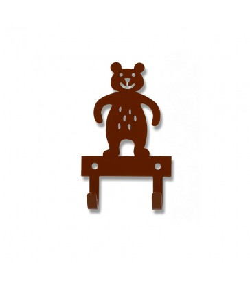 brown bear childrens wall hook
