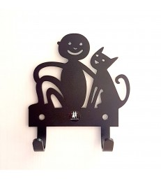 Boy and Cat Wall Hanger