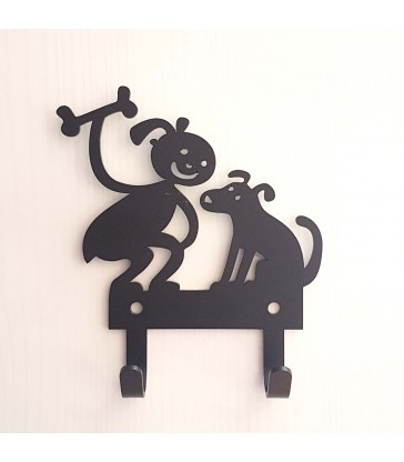 girl and her dog childrens room wall hanger
