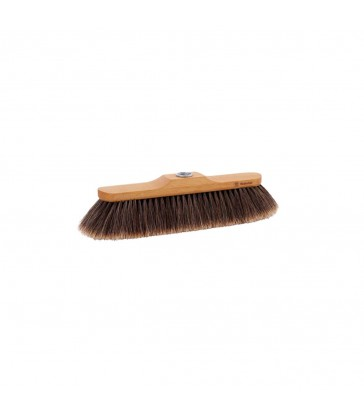 oiled beech horsehair broom head
