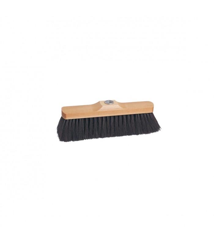 Broom Head 28.5cm Oiled beech wood Dark horsehair