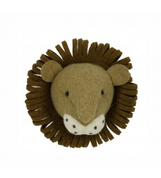 Mini Lion Head - Felt Wall Decor