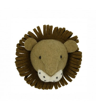 mini felt animal head - lion room decor for kids room