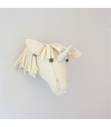 Baby Unicorn Felt Animal Head