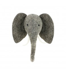 Felt Elephant Head with Tusk Sml