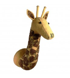 Large Felt Giraffe Head