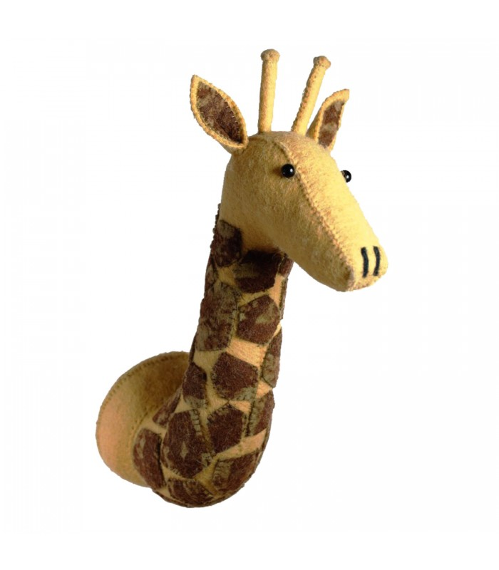 Large Felt Giraffe Head