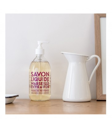 500ml fig scented liquid soap in glass bottle