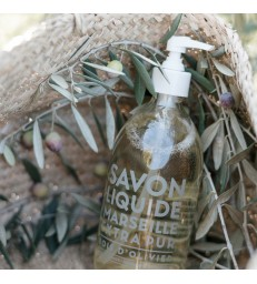 olive wood scent liquid soap pumps made in france