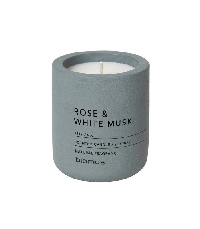 rose and white musk scented candle small size 24 hours burn time