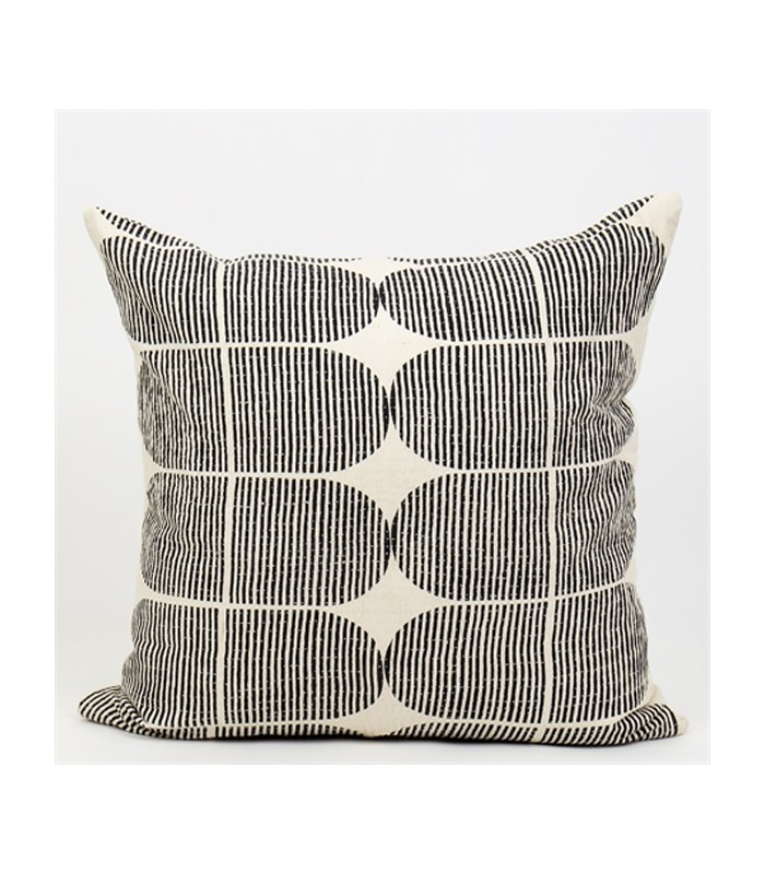 black and white tile cushion