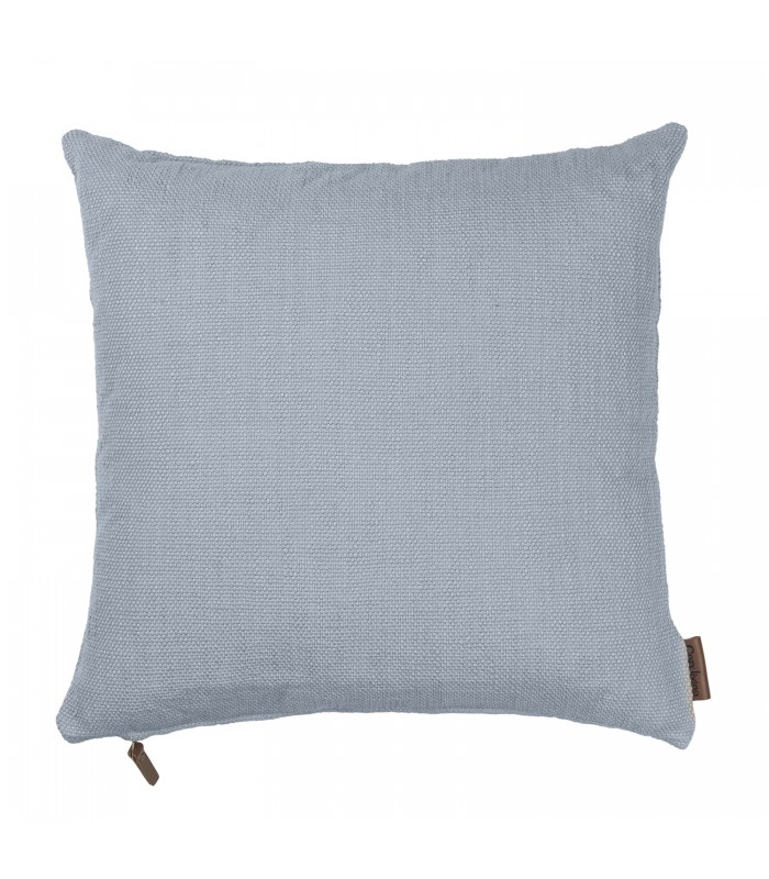 Dusty Blue Cotton Hand Loomed Cushion