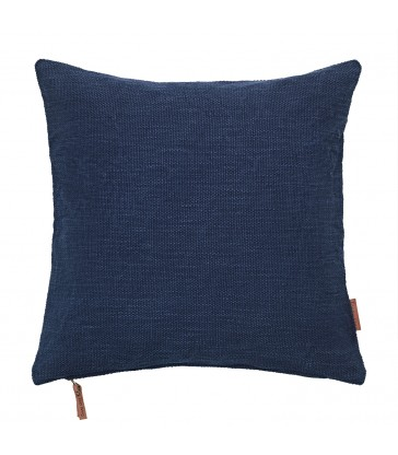 Navy Blue Cotton Hand Loomed Cushion