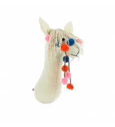 Llama Animal Head with Bridle