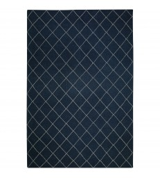 Diamond Dark Blue Floor Rug 180 x 272cm