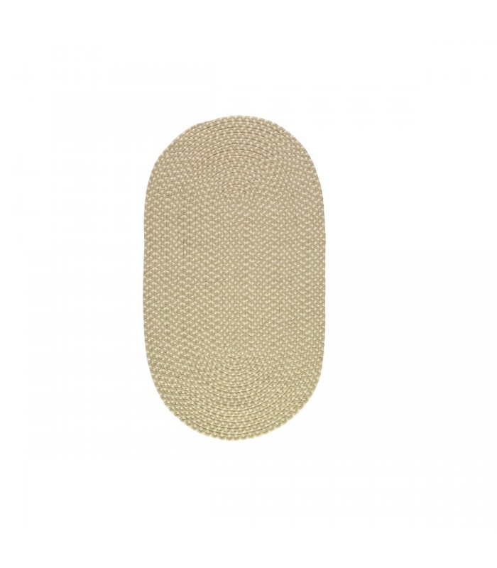 small putty oval eco rug