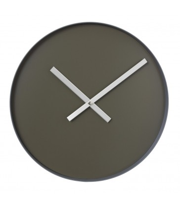 minimal large wall clock in tarmac colour