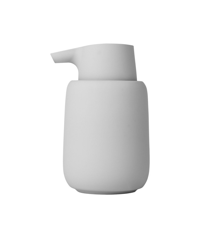 pale grey liquid soap dispenser, perfect for the modern bathroom