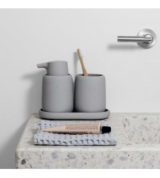 Bathroom Set - Soap Dispenser and Tumbler with Tray