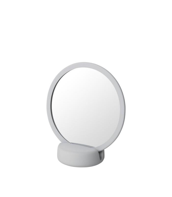 vanity mirror in pale grey
