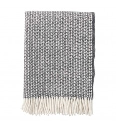 Dark Grey LINE Wool Throw