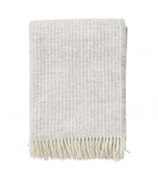 Light Grey LINE Wool Throw