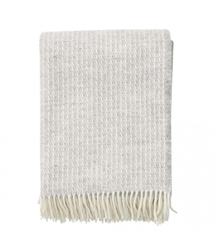 Light Grey LINE Wool Throw