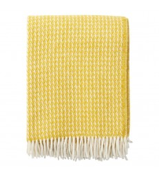 Yellow LINE Wool Throw