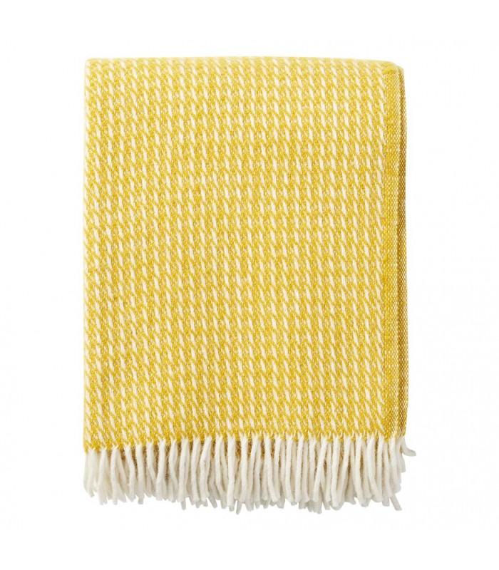 Yellow LINE Wool Throw