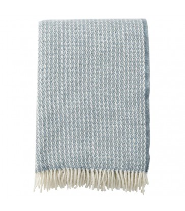 Dove Blue LINE Wool Throw