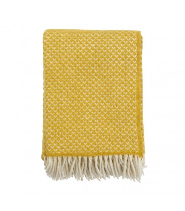 LUXOR Saffron Yellow Wool Throw