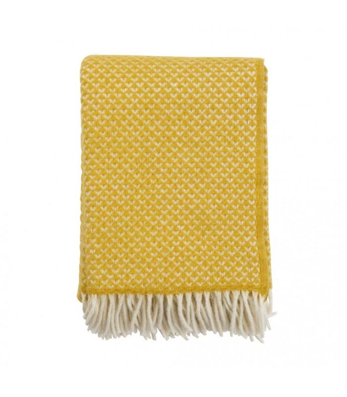 LUXOR Saffron Yellow Wool Throw