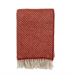 LUXOR Terracotta Red Wool Throw