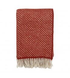 LUXOR Terracotta Red Wool Throw
