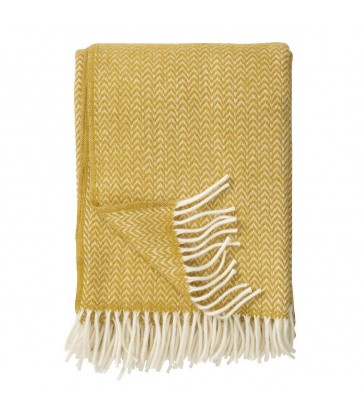 CHEVRON Yellow Wool Throw