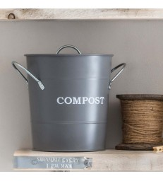 Small 3.5L Compost Bin in Charcoal Grey