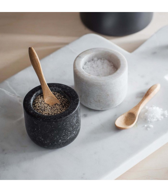 Salt and Pepper Set in Granite and Marble