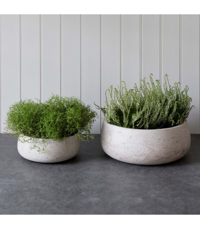 Set of Two Low Cement Bowls