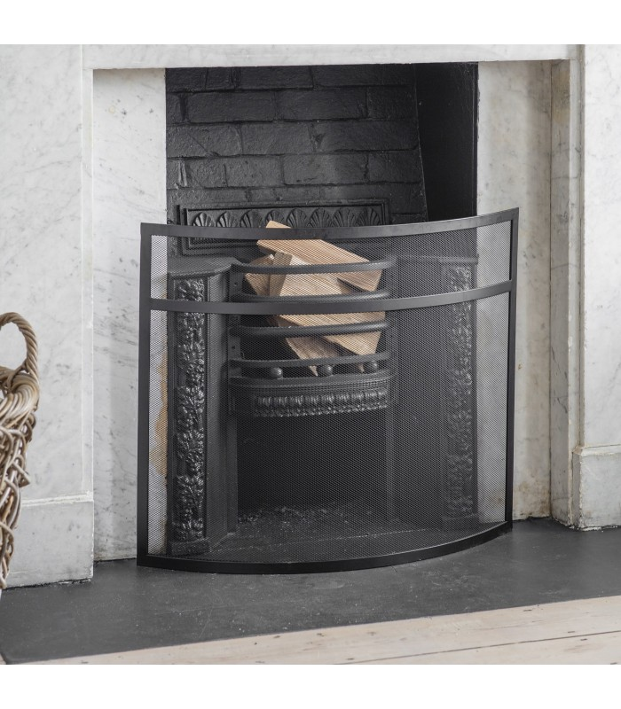 small curved firescreen