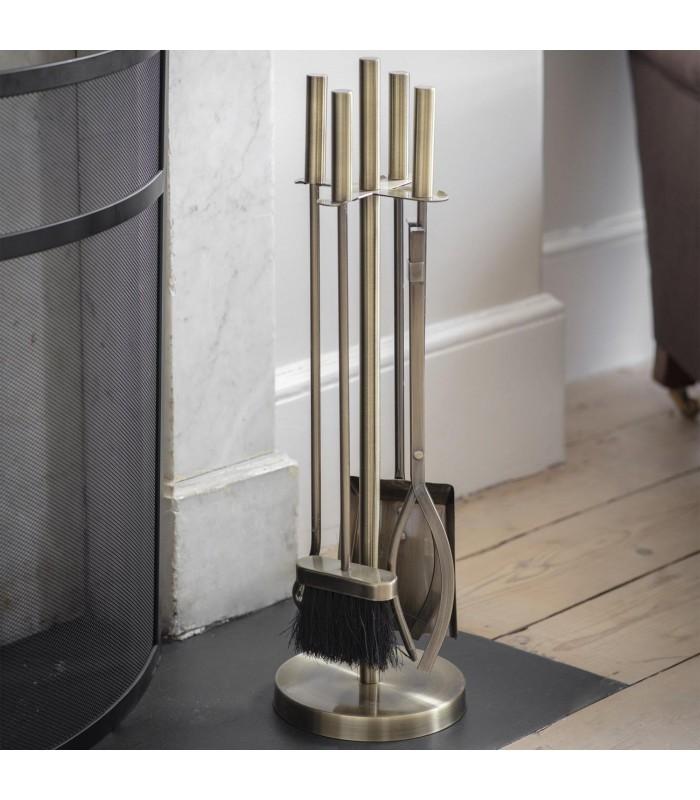 Brass Finish Fireside Tools Set
