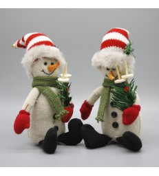 Set of 2 Snowman Christmas Decorations