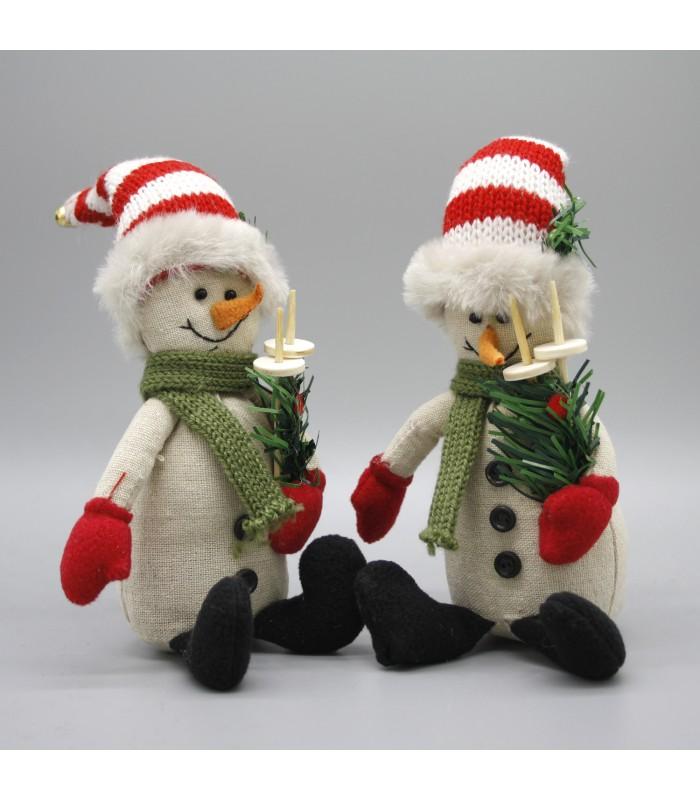 two christmas snowmen decorations