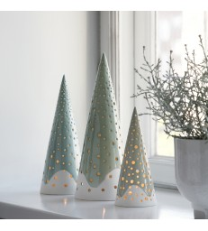 Green Cone Tea Light Holder - 3 sizes and shades