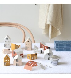 Set of 12 paper houses - Self assembly