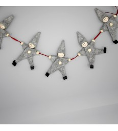 Grey Christmas Pixie Garland