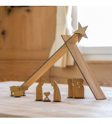 Minimalist Timber Nativity Crib