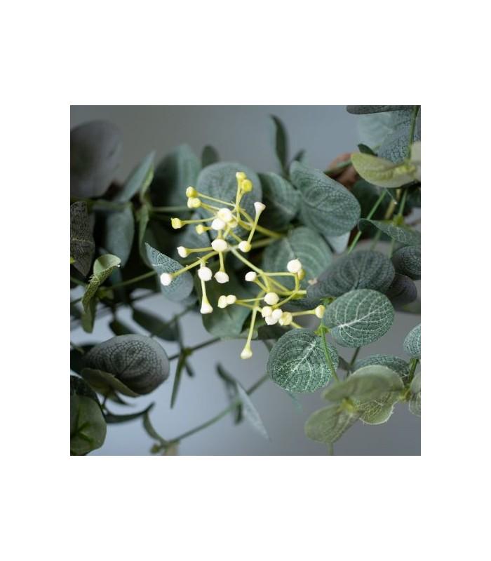 Eucalyptus & White Flower Garland 120cm