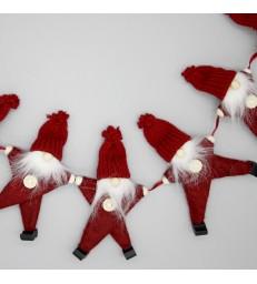 Red Santa Garland