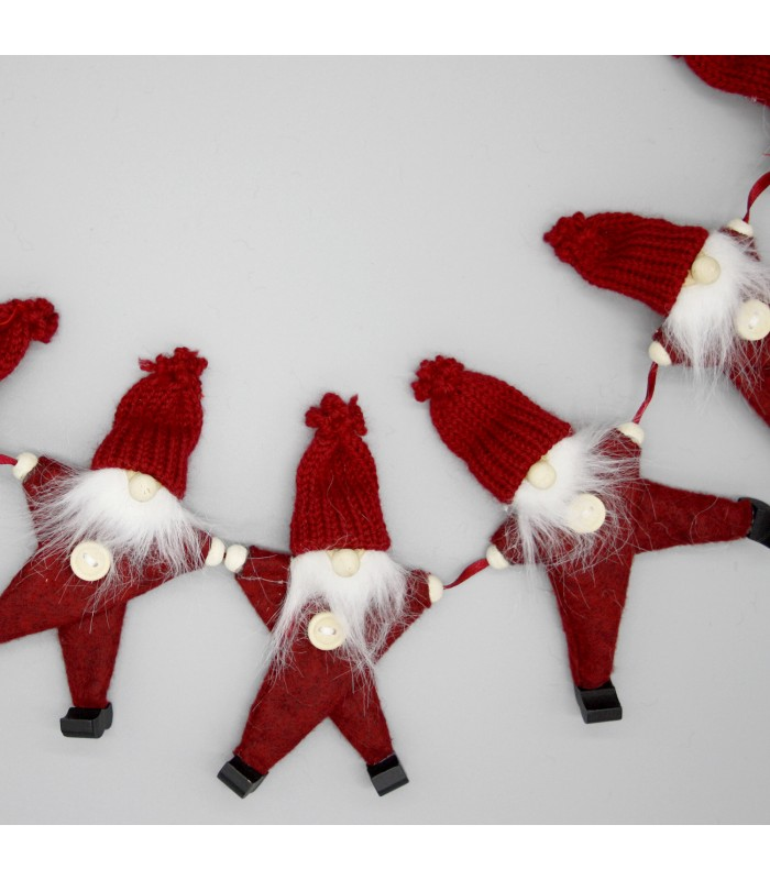 Red Santa Garland Christmas decorations from the blue door